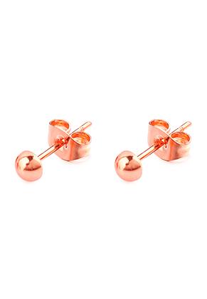 www.misstella.fr - Clous d'oreilles en acier inoxydable hémisphère 13x4mm