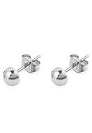 www.misstella.com - Stainless steel ear studs hemisphere 14x6mm - J09046