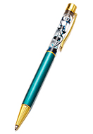 www.misstella.com - Metal pen with flowers inside - J09075