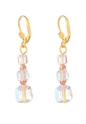 www.misstella.fr - Boucles d'oreilles avec perles en verre 54x10mm