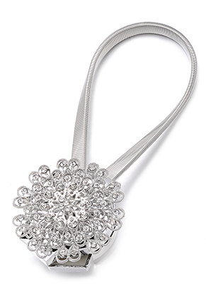 www.misstella.com - Magnetic curtain holder/embrasse with strass 33x6,5cmm