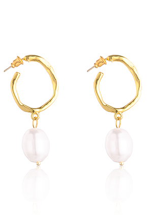 www.misstella.com - Earrings with synthetic pearl 50x21mm