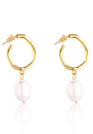 www.misstella.com - Earrings with synthetic pearl 50x21mm - J09283