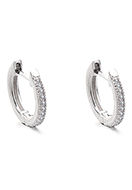 www.misstella.com - Brass hoop earrings with zirconia 14x13mm - J09310