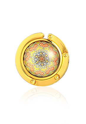 www.misstella.com - Purse hook with cabochon mandala 45mm
