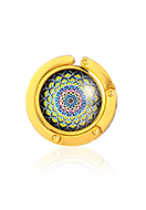 www.misstella.com - Purse hook with cabochon mandala 45mm - J09316