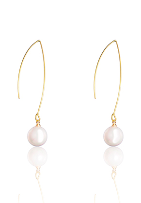 www.misstella.com - Earrings with mother of pearl 55x10mm