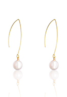 www.misstella.com - Earrings with mother of pearl 55x10mm - J09331