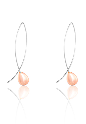 www.misstella.com - Earrings with mother of pearl 45x8mm