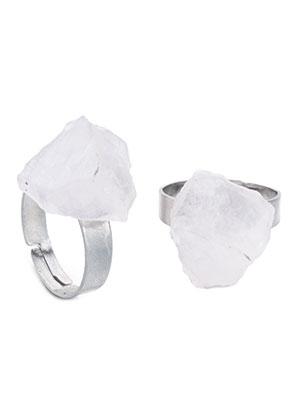 www.misstella.fr - Bague avec pierre naturelle Rock Crystal >= Ø 18mm