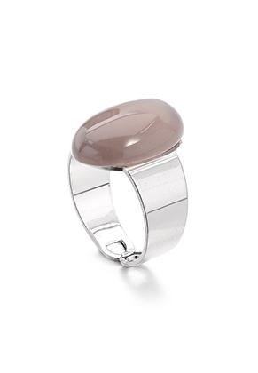 www.misstella.fr - Bague avec pierre naturelle Grey Agate >= Ø 17,5mm