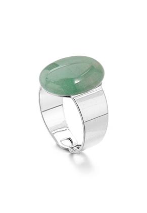 www.misstella.fr - Bague avec pierre naturelle Green Aventurine >= Ø 17,5mm