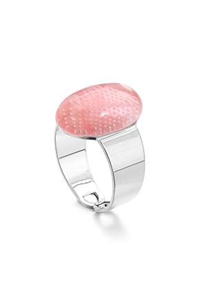 www.misstella.fr - Bague avec pierre naturelle Cherry Quartz >= Ø 17,5mm