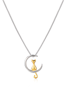 www.misstella.com - Necklace with cat and moon 45cm - J09399