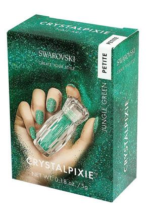 www.misstella.fr - SWAROVSKI ELEMENTS nail art CRYSTALPIXIE Petite Jungle Green
