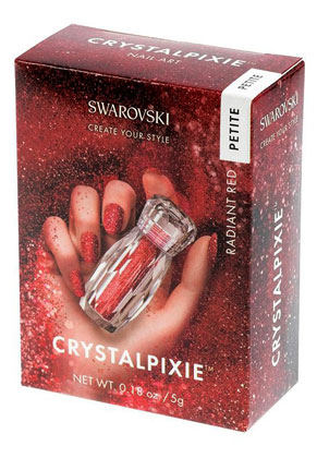 www.misstella.fr - SWAROVSKI ELEMENTS nail art CRYSTALPIXIE Petite Radiant Red