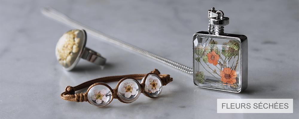 www.misstella.fr - Bijoux avec fleurs séchées