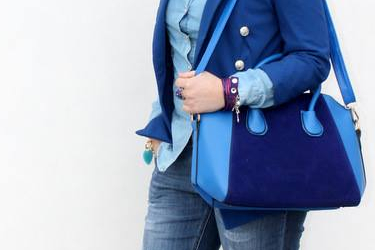 Mrs. Noone about gorgeous blue bag
